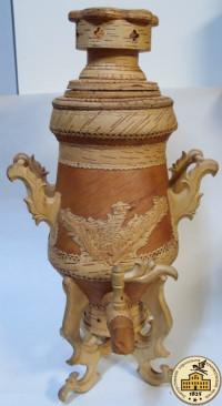 Самовар из бересты декоративный