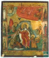 Икона  «Огненное восхождение Ильи Пророка»
