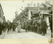 Фото: Император Николай II на станции Златоуст