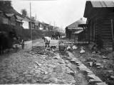 Улица Большая Ветлужская. Мощение дороги. 1930-е годы.