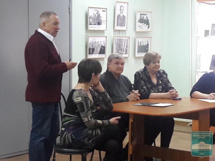 Встреча школьников города с активистами-комсомольцами