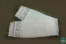 Полотенце из батиста с кружевом и вышивкой