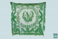 Скатерть филейная зеленая